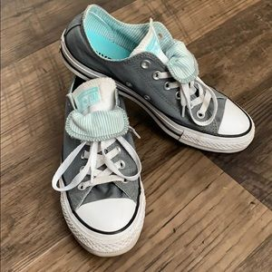 Converse All Star Gray & Turquoise Low Top Sneaker